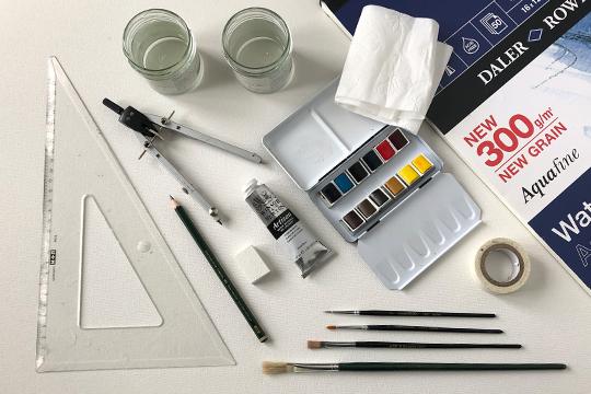 Onlinekurs i akvarellmåleri