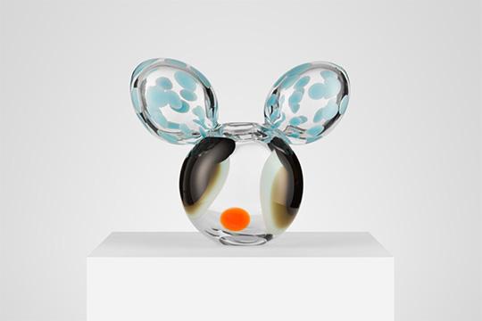 Glasskulptur av Frida Fjellman