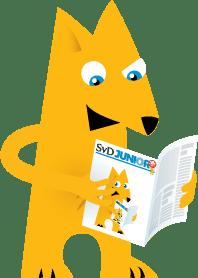 läsande maskot