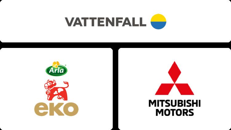 Vattenfall, Arla och Mitsubishi